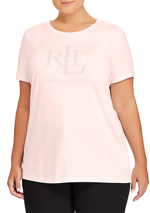 Lauren Ralph Lauren Plus Size Logo Cotton Blend