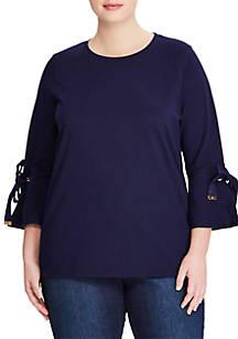 Lauren Ralph Lauren Lesley 3 4 Sleeve Knit Top - Curvy   belk 8cab6d9be558