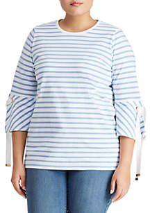 Plus Size Jersey Bell-Sleeve Top