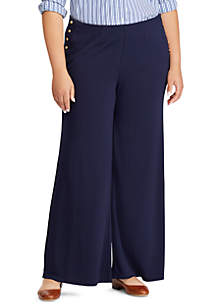 Plus Size Vattani Sailor Flare Pants