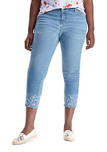 ddbd1fdbcbfe2 Lauren Ralph Lauren. Lauren Ralph Lauren Plus Size Premier Straight Crop  Jeans