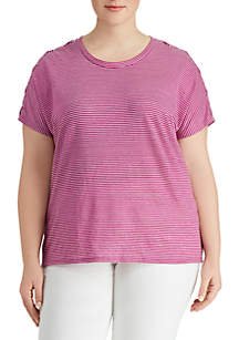 Plus Size Short Sleeve Knit Shirt