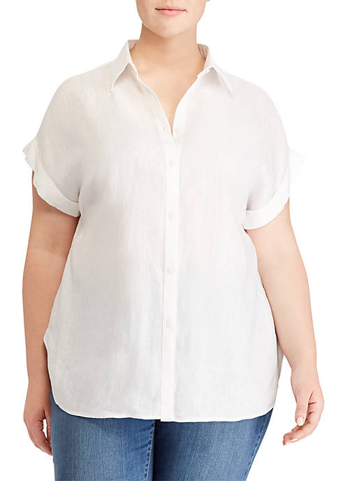 Lauren Ralph Lauren Plus Size Broono Short Sleeve