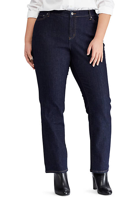 Lauren Ralph Lauren Plus Size Premier Slim Straight