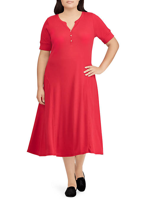 Lauren Ralph Lauren Byoko Elbow Sleeve Casual Dress