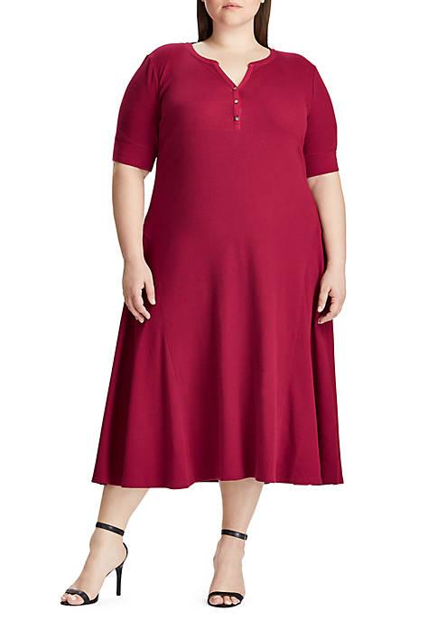 Lauren Ralph Lauren Plus Size Byoko Elbow Sleeve