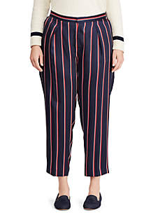 Plus Size Twill Straight-Leg Pant
