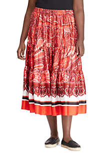 Plus Size Ruffle Skirt