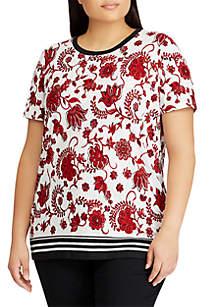 Plus Size Linen-Blend T-Shirt