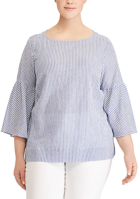 Lauren Ralph Lauren Plus Size Kadelyn 3/4 Sleeve