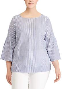 Plus Size Kadelyn 3/4 Sleeve Shirt