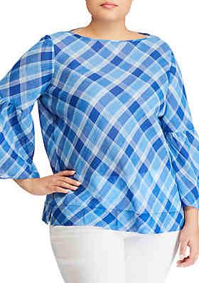 28e8ecea ... greece lauren ralph lauren plus size kadelyn 3 4 sleeve shirt d84b0  71013