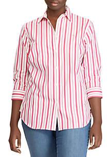 Plus Size Stripe Shirt