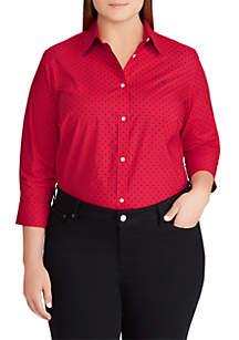 Plus Size Three-Quarter Sleeve Gwenno Shirt