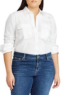 Plus Size Courtenay Long Sleeve Shirt