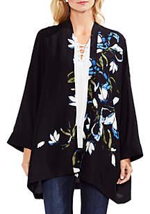 Plus Size Rimona Long Drape Sleeve Kimono