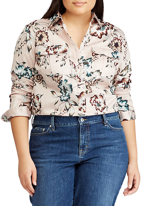 Lauren Ralph Lauren Plus Size Courtenay Long Sleeve