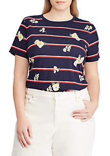 Plus Size Print Jersey T-Shirt
