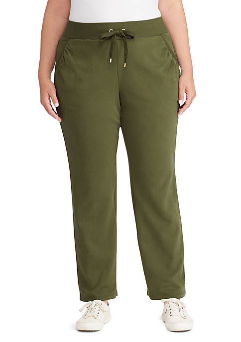 Lauren Ralph Lauren Plus Size French Terry Sweat-Pant