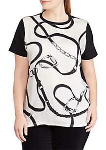 Plus Size Geometric-Print T-Shirt