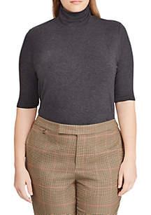Plus Size Knit Turtleneck Sweater