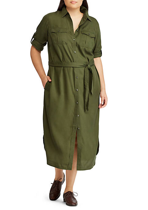 Lauren Ralph Lauren Karonne Three-Quarter Sleeve Casual Dress