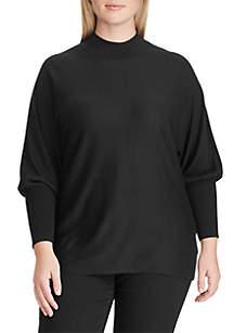 Plus Size Dolman-Sleeve Modal Sweater