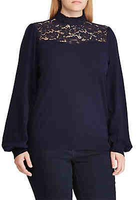 80dbfac1d78 Lauren Ralph Lauren Plus Size Speranza Long Sleeve Sweater ...