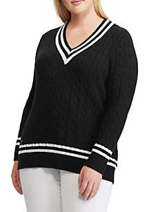 Plus Size Cotton Cricket Sweater