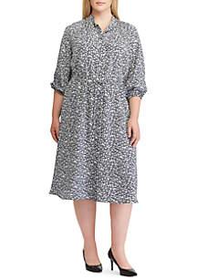 Lauren Ralph Lauren Plus Size Print Crepe Shirtdress