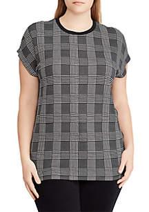 Plus Size Plaid Jersey T-Shirt