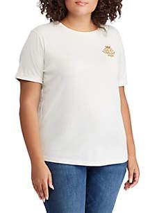 Plus Size Crest Jersey T-Shirt