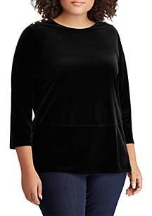 Plus Size Zamal Button Shoulder Sweater