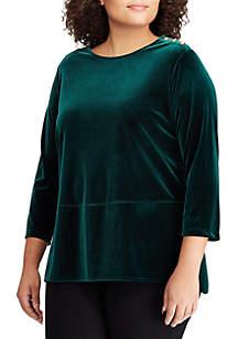 Plus Size Velvet Tunic Top