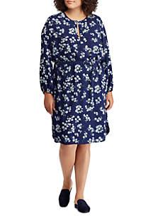 Plus Size Floral Georgette Dress