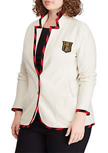 7e0efadf17b ... Blazer Jacket · Lauren Ralph Lauren Plus Size Cotton-Blend Blazer