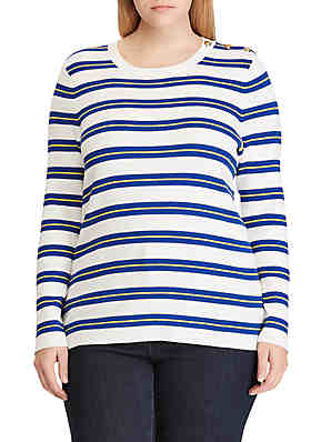 3acde45670211 Lauren Ralph Lauren Plus Size Cotton Blend Sweater ...