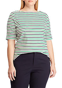 1e867f493c5c0 ... Lauren Ralph Lauren Plus Size Cotton Boatneck Top