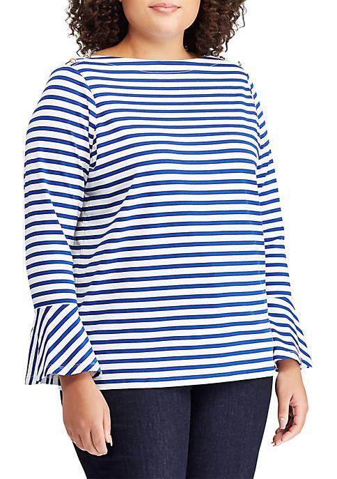 Lauren Ralph Lauren Plus Size Bell Sleeve Top