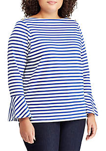 Lauren Ralph Lauren Plus Size Bell Sleeve Top