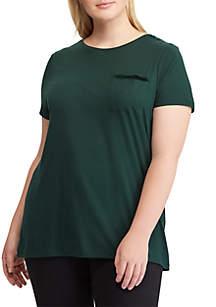 Plus Size Jersey Pocket T-Shirt