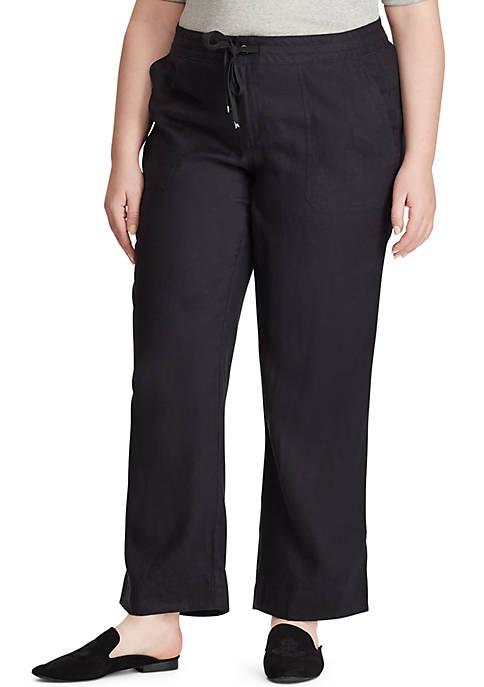 Lauren Ralph Lauren Plus Size Linen Wide Leg