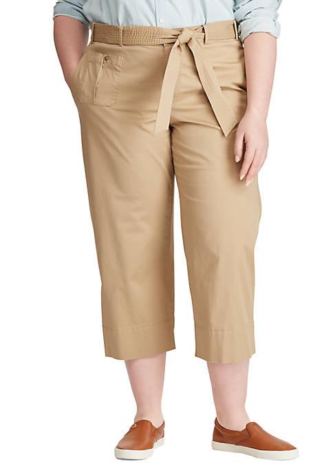 Lauren Ralph Lauren Plus Size Belted Twill Wide