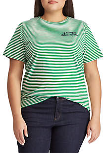 432bdec8490 ... Top · Lauren Ralph Lauren Plus Size Logo Striped Cotton Tee