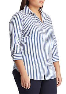 97b83c4773a ... Lauren Ralph Lauren Plus Size No Iron Striped Button Down Shirt