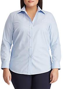 6c1708f9 ... Lauren Ralph Lauren Plus Size Embroidered Striped Button Down Shirt