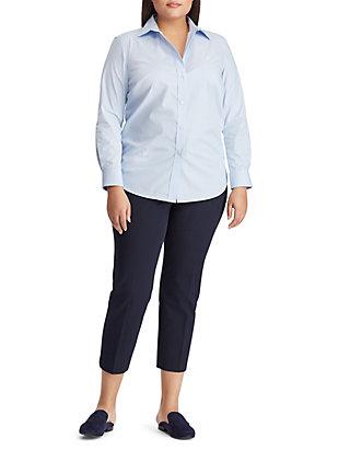 16f9d49ff9a138 ... Lauren Ralph Lauren Plus Size Embroidered Striped Button Down Shirt