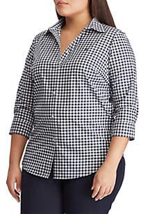 2e59151b1 ... Lauren Ralph Lauren Plus Size No Iron Gingham Button Down Shirt