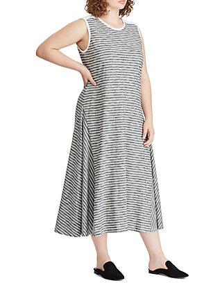 Lauren Ralph Lauren Plus Size Striped Cotton Dress | belk