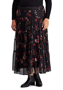Plus Size Moriah Floral Maxi Skirt